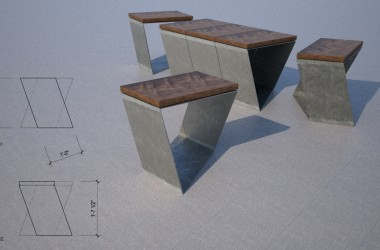 furniture design rendering
